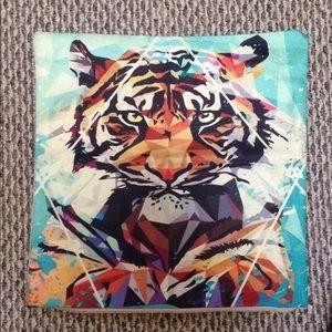 Other - Tiger pillow case geometric tiger decor, Clemson